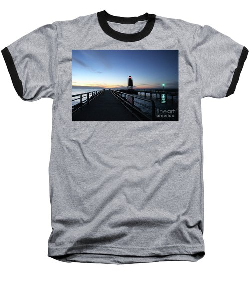 Charlevoix Light Tower Baseball T-Shirt