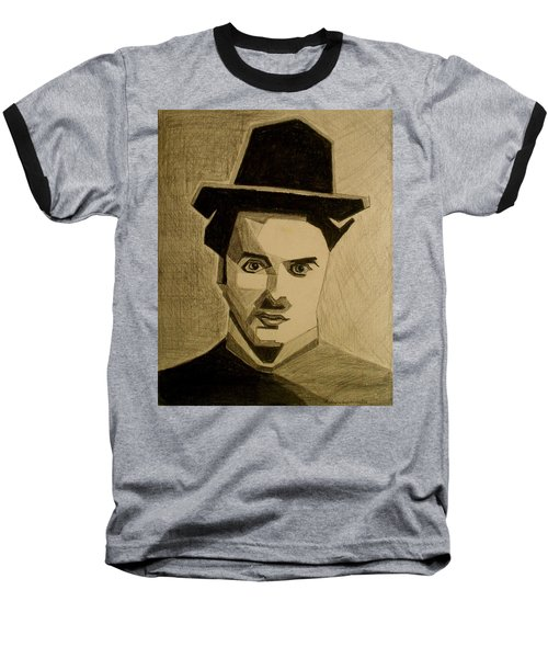 Charlie Chapplin Baseball T-Shirt