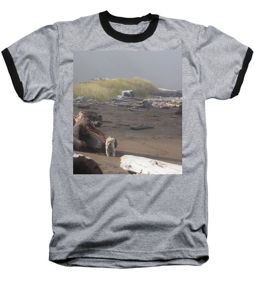 Charlie On Irish Beach Baseball T-Shirt