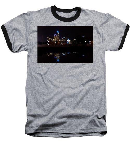 Charlotte Reflection At Night Baseball T-Shirt