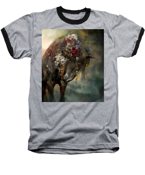 Baseball T-Shirt featuring the painting Charmer  by Dorota Kudyba