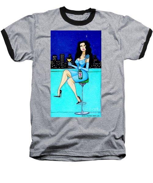 Charming Lady At Night Baseball T-Shirt