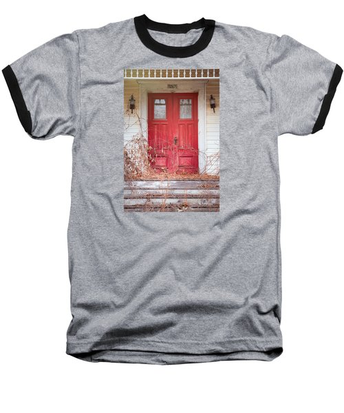 Charming Old Red Doors Portrait Baseball T-Shirt