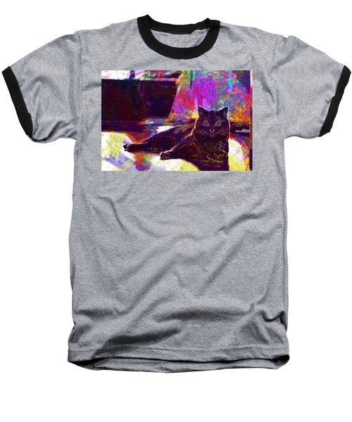 Baseball T-Shirt featuring the digital art Chartreux Cat Animals Pet Mieze  by PixBreak Art