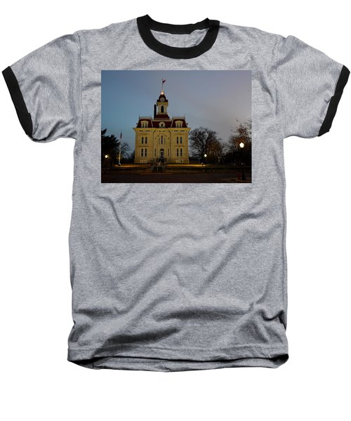 Chase County Courthouse Baseball T-Shirt by Keith Stokes
