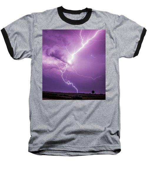 Chasing Nebraska Lightning 018 Baseball T-Shirt