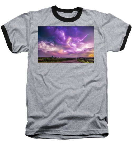 Chasing Nebraska Lightning 056 Baseball T-Shirt