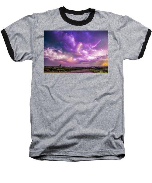Chasing Nebraska Lightning 056 Baseball T-Shirt