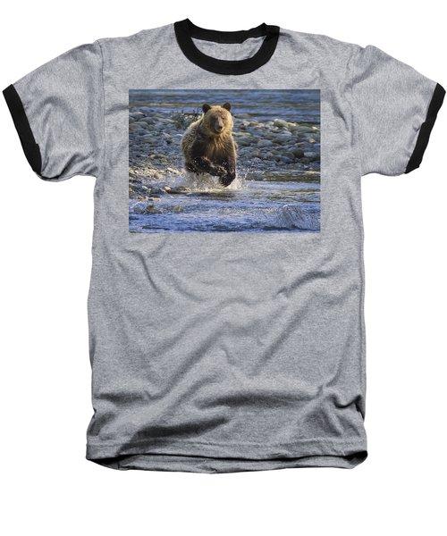 Chasing Salmon Baseball T-Shirt