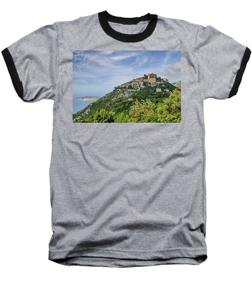 Baseball T-Shirt featuring the photograph Chateau D'eze On The Road To Monaco by Allen Sheffield