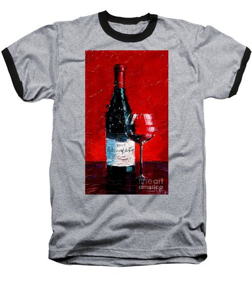 Still Life With Wine Bottle And Glass I Baseball T-Shirt