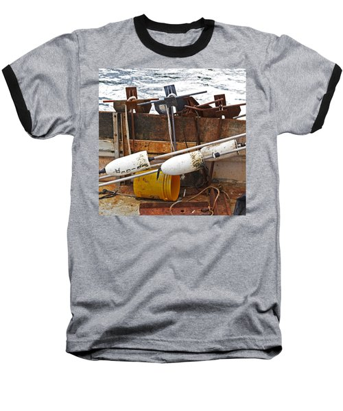 Baseball T-Shirt featuring the photograph Chatham Fishing by Charles Harden