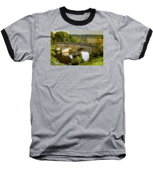 Chatsworth House And Bridge Baseball T-Shirt