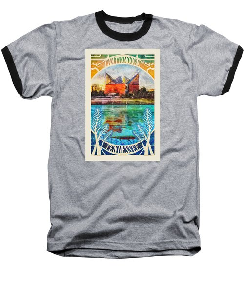 Chattanooga Aquarium Poster Baseball T-Shirt