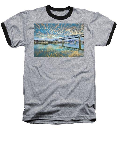 Chattanooga Has Crazy Clouds Baseball T-Shirt by Steven Llorca
