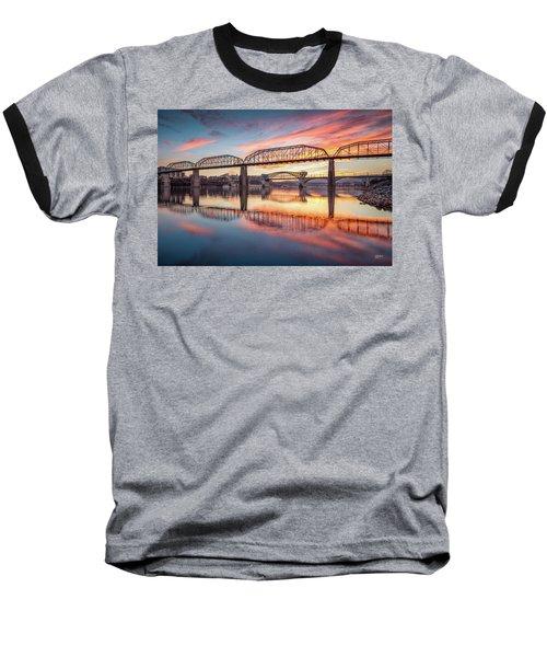 Chattanooga Sunset 5 Baseball T-Shirt by Steven Llorca