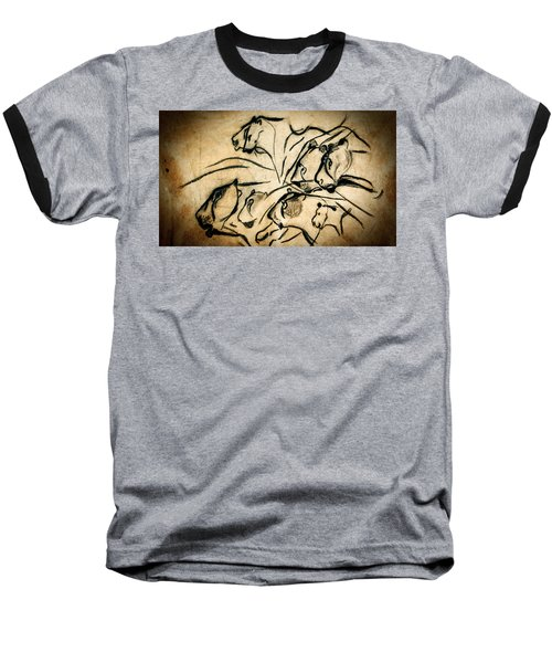 Chauvet Cave Lions Baseball T-Shirt