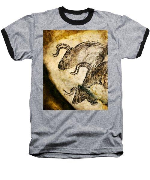 Chauvet - Three Aurochs Baseball T-Shirt
