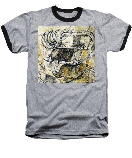 Chauvet Three Rhinoceros Baseball T-Shirt