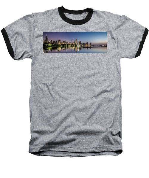 Chicago Skyline At Dawn With A Panoramic Crop  Baseball T-Shirt