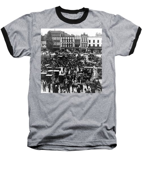 Cheapside Public Square In Lexington - Kentucky - April 7  1920 Baseball T-Shirt by International  Images