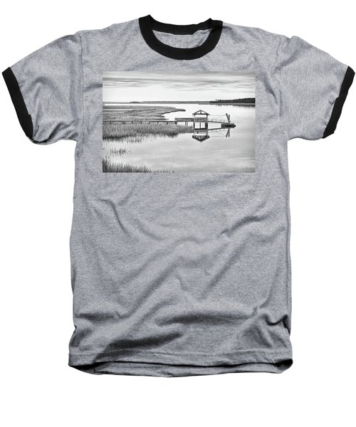 Chechessee Dock Baseball T-Shirt by Scott Hansen