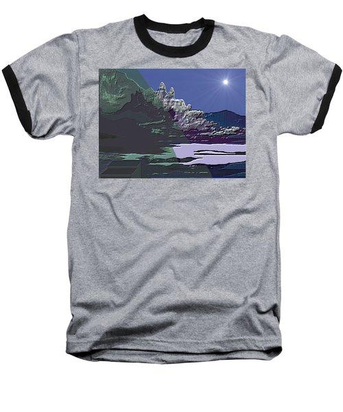 Baseball T-Shirt featuring the digital art 1978 - Nowhere  by Irmgard Schoendorf Welch