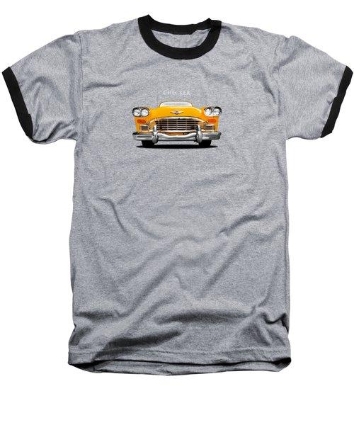 Checker Cab Baseball T-Shirt by Mark Rogan