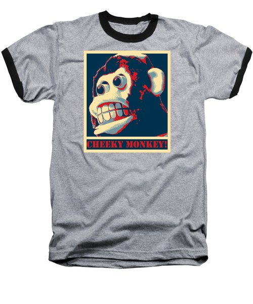 Cheeky Monkey Baseball T-Shirt by Richard Reeve
