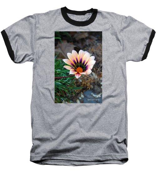 Cheerful Flower Baseball T-Shirt by Debra Thompson