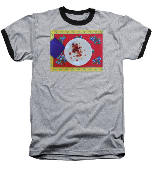 Cheese Cake With Cherries Baseball T-Shirt by Jana Russon