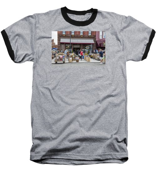 Cheese Shop In Detroit  Baseball T-Shirt by John McGraw