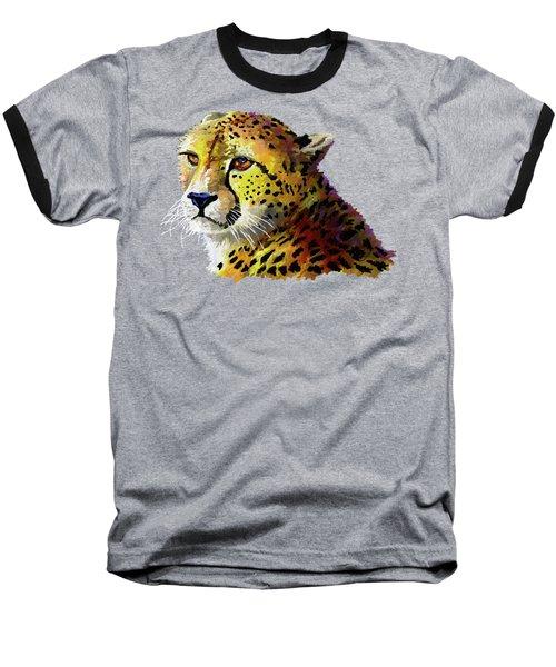 Cheetah Baseball T-Shirt by Anthony Mwangi