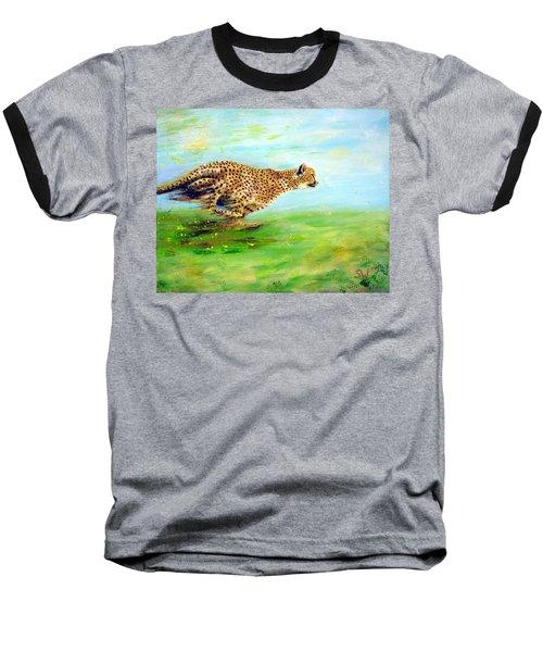 Cheetah At Speed Baseball T-Shirt