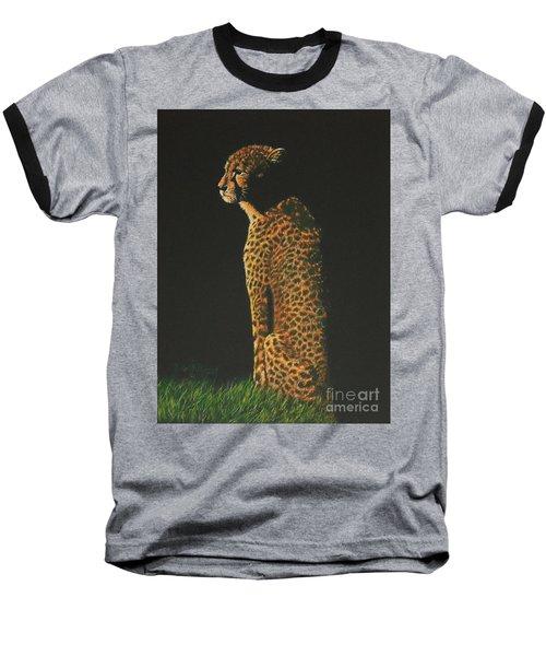 Cheetah At Sunset Baseball T-Shirt