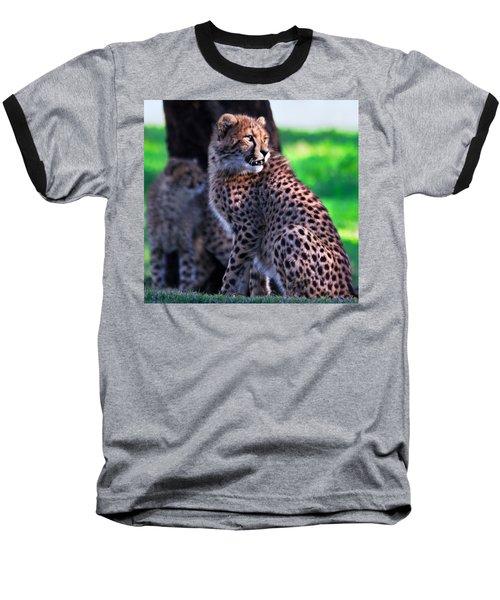 Cheetah Cub Baseball T-Shirt