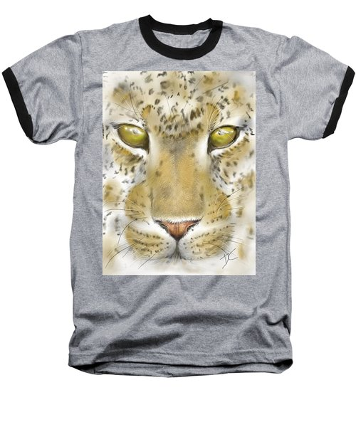 Cheetah Face Baseball T-Shirt