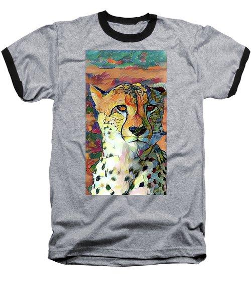 Cheetah Face Baseball T-Shirt