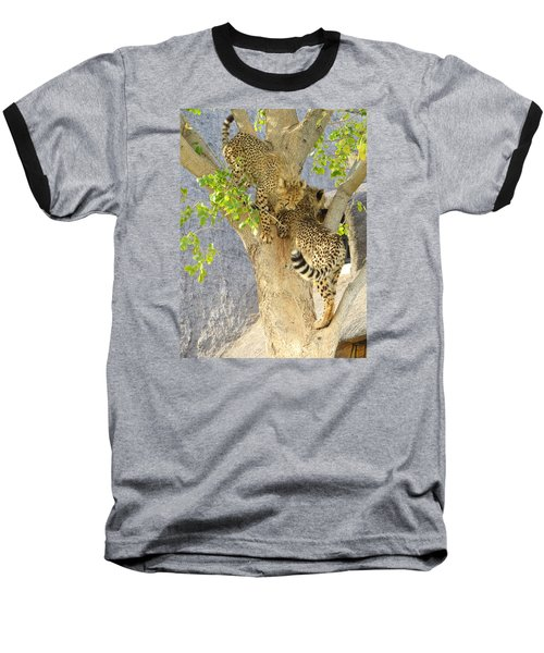 Cheetah Traffic Jam Baseball T-Shirt