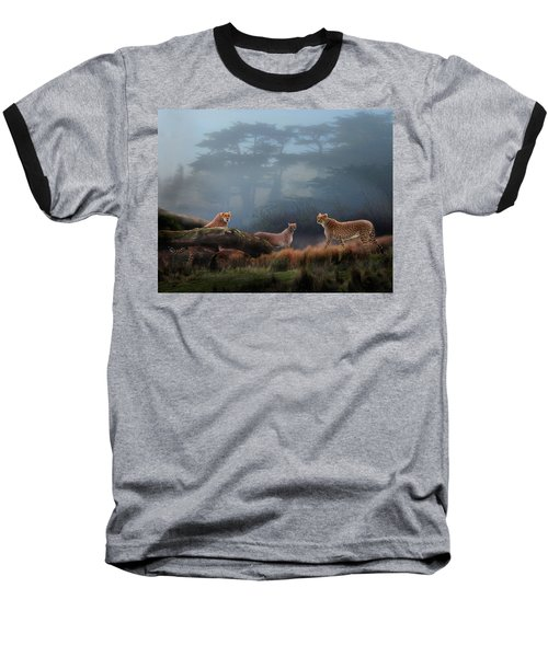 Cheetahs In The Mist Baseball T-Shirt