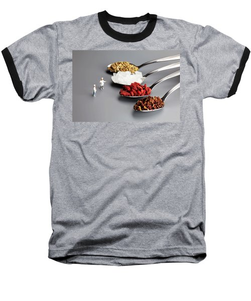 Chef Discussing Cooking Recipes Baseball T-Shirt by Paul Ge
