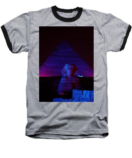 Cheops In Blue Baseball T-Shirt
