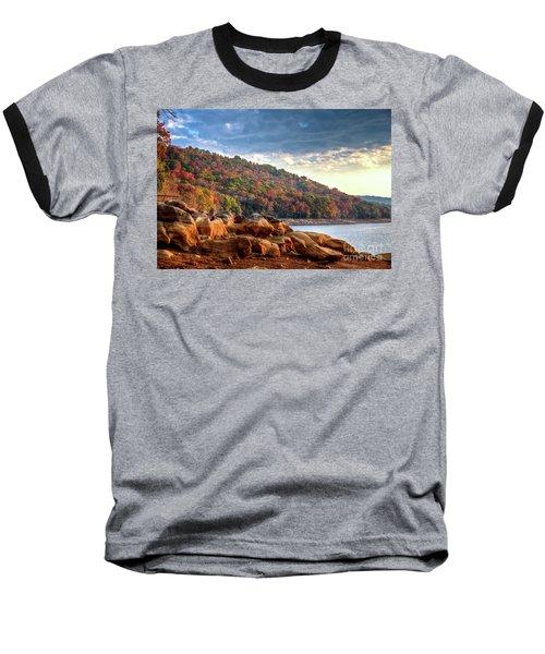 Baseball T-Shirt featuring the photograph Cherokee Lake Color II by Douglas Stucky