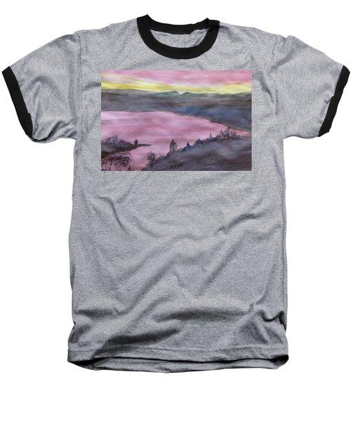 Baseball T-Shirt featuring the painting Cherokee Lake - Watercolor Sketch  by Joel Deutsch