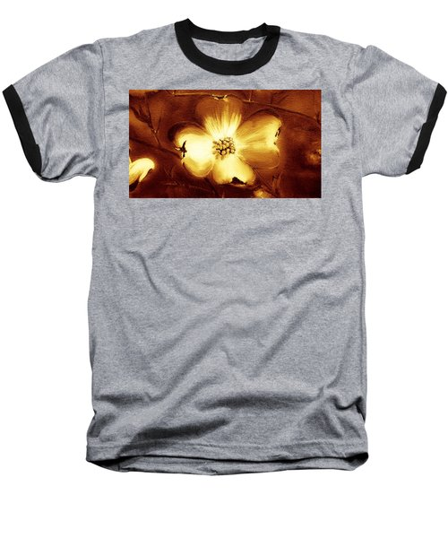 Cherokee Rose Dogwood - Single Glow Baseball T-Shirt
