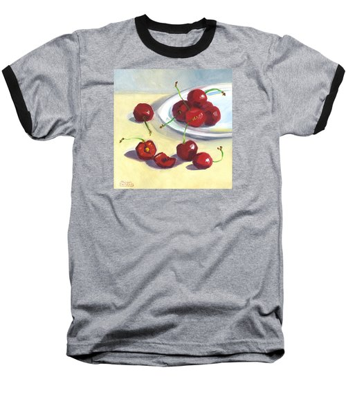 Cherries On A Plate Baseball T-Shirt