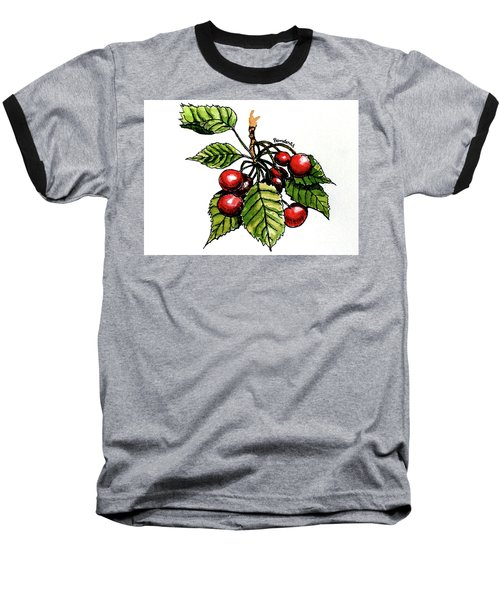 Baseball T-Shirt featuring the painting Cherries by Terry Banderas