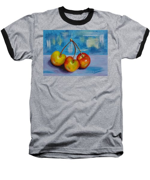 Cherries Trio Baseball T-Shirt