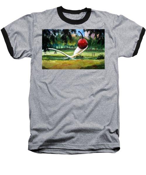 Cherry And Spoon Baseball T-Shirt