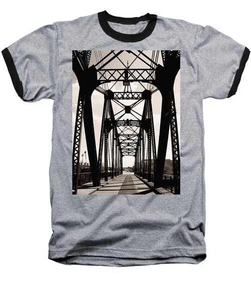 Cherry Avenue Bridge Baseball T-Shirt by Kyle Hanson